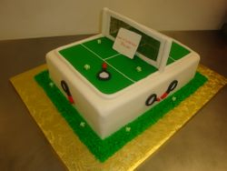 40 serving fondant covered tennis cake $250