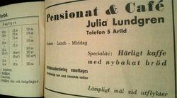 Julia Lundgrens konditori 1935