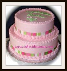 Preppy Pink Graduation cake