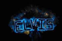 Front of Elvis Costume lighted