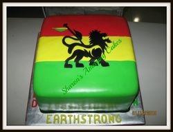 CAKE 46A2 -Rastafarian Cake