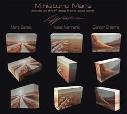 Mars miniatures / wood block