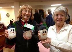 Mary Lou & Angie Santa Cocoa Jars