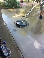 Our driveway/sidewalk cleaning process
