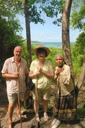 John, Jan and Annette at Mamiku gardens