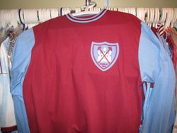 Worn May 2nd 1964 at Wembley (replica) when West Ham won the FA Cup for the first time.