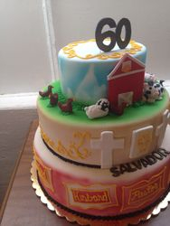 60th Birthday Personalized cake