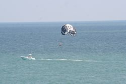 Getting ready to dunk the Parasail