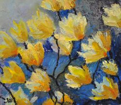 To the light. Expressionistic flowers.