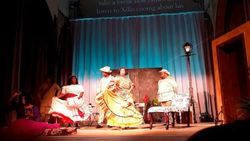 La Flamenca= Dancing singers.