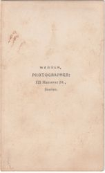 Warren, photographer of Boston, MA - back