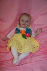 """Fancy Yellow"" Baby Dress"