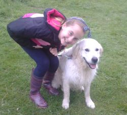 Posing with Charlotte at Nowton Park
