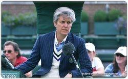 Chair Umpire Marija Cicak of Croatia