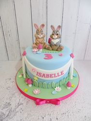 Bunny Birthday Cake
