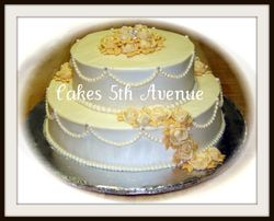 Ivory Rose 25th Anniversary Cake