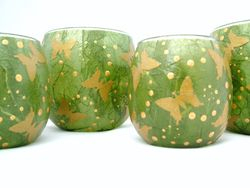 OLive Green and Gold Butterflies
