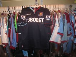 Kevin Nolan's used shirt from the away game vs Swansea used once.