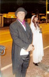 Mysterious couple accompanies