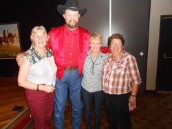 Shirley B, DJ Ian, Terri and Pam