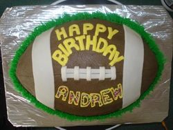 football birthday 15  servings $65