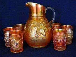 Vineyard 7pc. water set, marigold