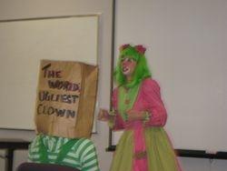 Practicing skits at Clown School