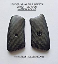RUGER SP101 MATTE Black CF Grip Inserts
