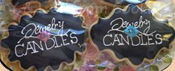Jewelry Candles logo cookies