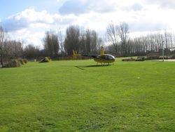 Een heli pick-up op 800 mtr van de B&B