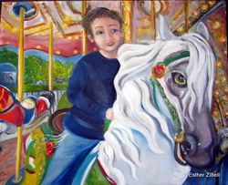 Boy on merry-go-round