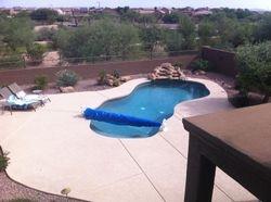 Huge pool area - heated pool