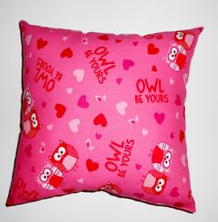 Valentine owl pillow - sold