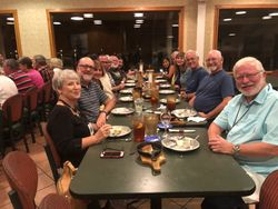 Group Diner at Camp Snoozy 2018