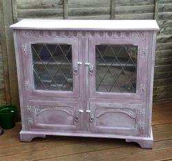 Lilac sideboard.