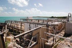 Hurricane damage at the conch farm