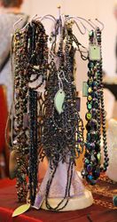 variety of carnival glass necklaces