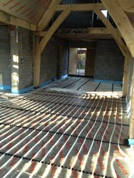 Under floor heating is controllable