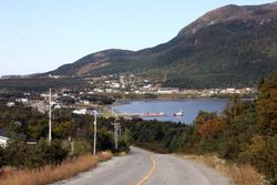 Entering the Town of Lark Harbour