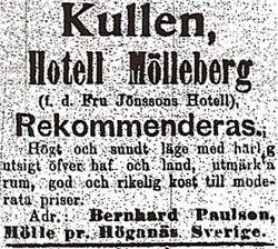 Hotell Molleberg 1899
