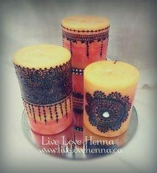 Orange Henna candles