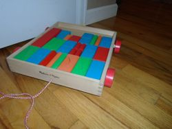 Melissa & Doug Unit Blocks on Wheels - $10