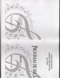 Program booklet cover for DMIMF in Romania
