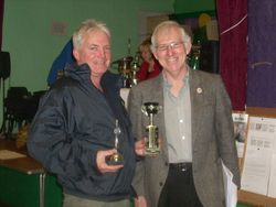 Mike Bright recieving the Bedminster Progress Trophy