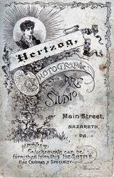 Hertzog, photographer of Nazareth, PA - back