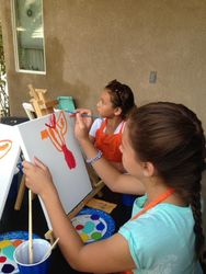 Gabby Kids Paint Zebra in Color