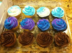 Swirled color cupcakes