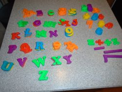 Magnetic Letters & Numbers for Easel or Fridge- Qty 108 - $12
