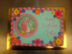 30 serving photo unicorn and flowers cake $145