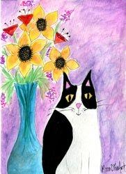 Cat with Vase